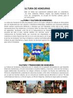 CULTURA DE HONDURAS