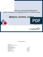 USAT MONTSERRAT LISTED CANADA 2009 Aug Medical School Codes
