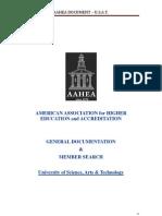 USAT Member of American Association for Higher Education