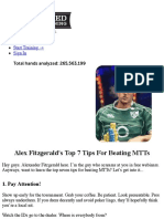 Alex Fitzgerald's Top 7 Tips For Beating MTTs