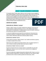 COSTOS DE CALIDAD Y VALOR ECONOMICO AGREGADO