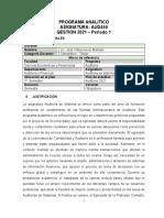 Programa Analitico - Examen Final I