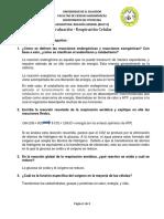 AUTOEVALUACIÓN 2.1 - RESPIRACIÓN CELULAR BIOLOGÍA UES