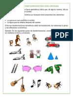 TRANSFORMACIONES ISOMÉTRICAS EN EL PLANO CARTESIANO