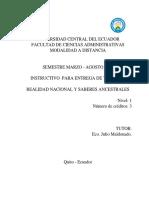INSTRUCTIVO DE  TRABAJOS R.N.