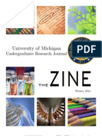 The Zine Winter 2011 by the University of Michigan Undergraduate Research Journal