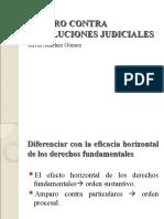 AMPARO CONTRA RESOLUCIONES JUDICIALES.ppt