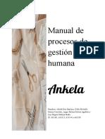 Manual de procesos de gestión humana