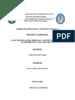 PRÁCTICA CALIFICADA- DERECHO PROCESAL CONSTITUCIONAL I