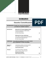 Sumario Gaceta Constitucional 153