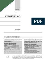 IC-M401EURO - Instruction Manual