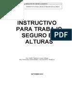 INSTRUCTIVO PARA TRABAJO SEGURO EN ALTURAS