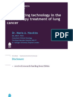 D114 Implementing Technology in the Radiotherapy Treatment of Lung Cancer