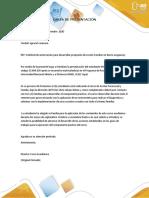 CARTA DE PRESENTACIÓN y encuesta