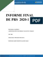 INFORME FINAL DE PRS 2020-1