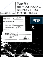 Twelfth Semiannual Report to Congress July 1 - December 31, 1964
