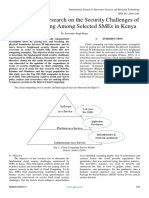 A Descriptive Research on the Security Challenges of Cloud Computing Among Selected SMEs in Kenya