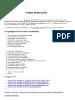 Ejemplos de oraciones nominales _ Ejemplos del lenguaje