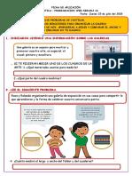 FICHA DE APLICACIÓN 2 MATEMATICA WEB SEGUNDO GRADO ENMA