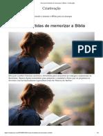 8 formas divertidas de memorizar a Bíblia – Criativação