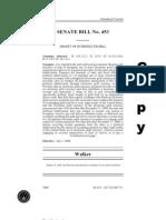 Indiana SENATE BILL No. 453 (actual bill)