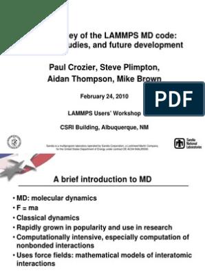 LAMMPS for Beginners | Molecular Dynamics | Force Field