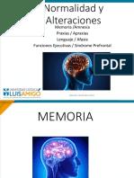 memoria, praxias, lenguaje, funciones ejecutivas