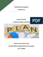 Actividad 3 Evidencia 3 - La mejor estrategia Corporativa