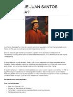 Quién Fue Juan Santos Atahualpa
