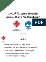 """Drupal Latino 2011. Diario """"La República"""". Perú"""