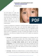 """""""CASO MADELEINE MCCANN"""" ANÁLISIS POLICIOLÓGICO – Psicología Forense Aplicada, Ps. Cristián Araos Diaz."""