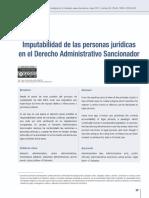 Euseda-Aguilar - Imputabilidad de las personas jurídicas en el Derecho Administrativo Sancionador