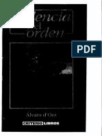 d'Ors, Alvaro - La violencia y el orden-Editorial Criterio-Libros (1998).pdf