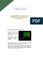 Caracteristicas Estaticas y Dinamicas Sensores