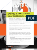 "Building a ""Signature Experience"" for Wealth Management"