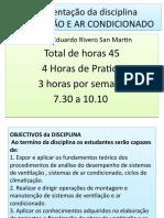 1. Aula Tema I Generalidades de ventilaçao e ar condicionado