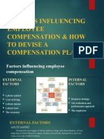 FACTORS INFLUENCING EMPLOYEE COMPENSATION & HOW TO DEVISE