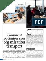 Comment optimiser lorganisation transport