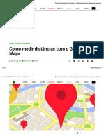 como medir distancia  no google maps