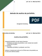 Curs 6 metode de analiza de portofoliu