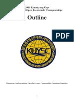 2019 The outline of Kimunyong Cup International Open Taekwondo Championships_WT