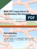 Role Of Cooperatives In Agribusiness Development(Nikunj & Priyam)