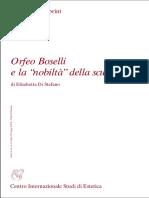 Di Stefano_Orfeo Boselli e la nobiltà della scultura - Aesthetica Preprint 2002