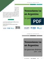 CAREF ACNUR OIM Venezolanos-As en Argentina. Un Panorama Dinámico 2014-2018