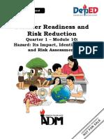 DRRR Q1-Module-10-Hazard-Its-Impact-Identification-and-Risk-Assessment-08082020