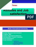 3. Attitude and Job Satisfaction