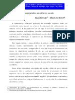 SCHNEIDER & SCHMITT - O uso do método comparativo nas ciências sociais