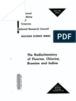 The Radio Chemistry of Fluorine, Chlorine, Bromine and Iodine.us AEC