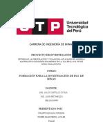TRABAJO DE INVESTIGACION . FORMACION PARA LA INVESTIGACION DE ING DE MINAS.docx