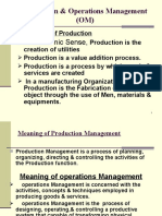 Production & Operations Management (OM)
